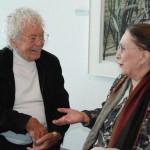 Swiss artist Hans Erni, Yolanda Rojal, president of APES, Lucerne 2009